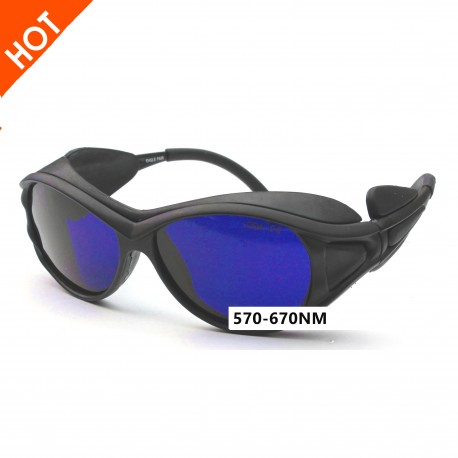 Laser safety glasses for 570-670nm