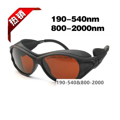 Laser safety goggles for 190-540nm & 800-2000nm