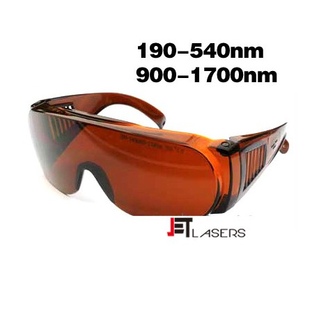 Laser safety goggles for 190-540nm & 900-1700nm