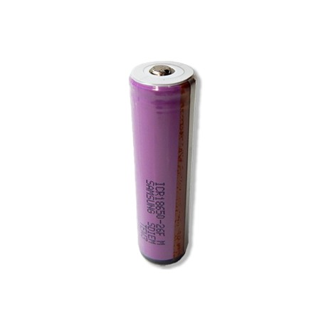 Button Top Samsung Li-ion 18650 Rechargeable Cell: 3.7V 2600mAh, PCB Protected)
