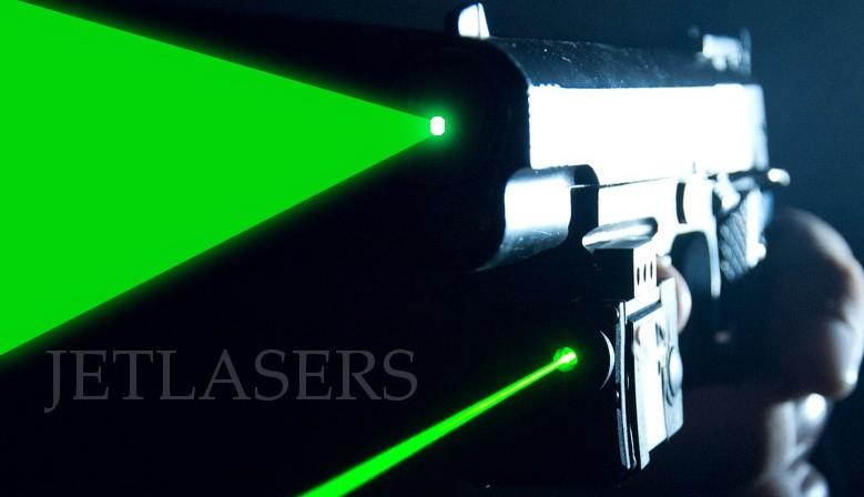 Pistol type laser dazzlers